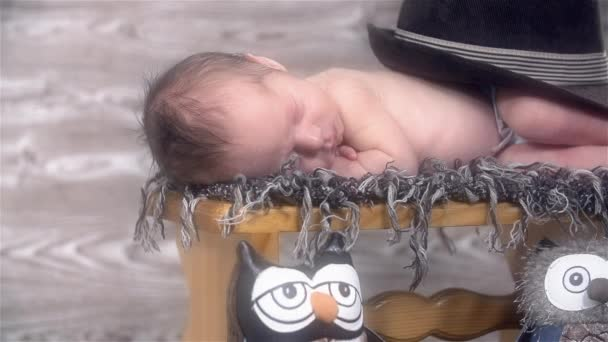Baby sleeping on Footstool