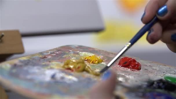 Základní barvy na paletě