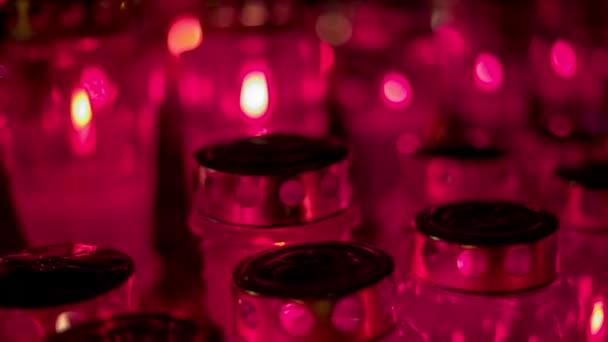 Graveyard Candles at night