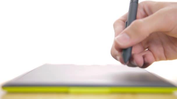 Man Drawing A Wavy Line