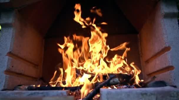 Barbecue Fire Burninig