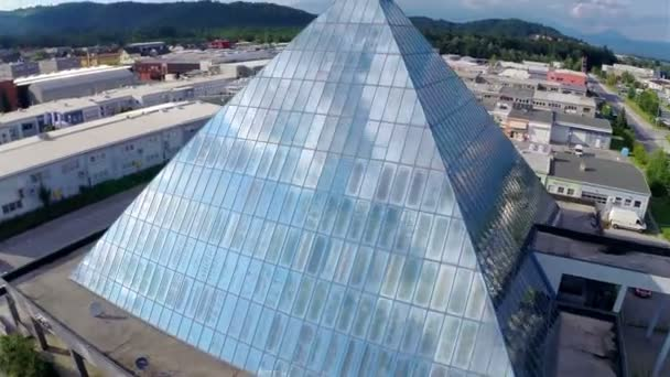building in shape of pyramid