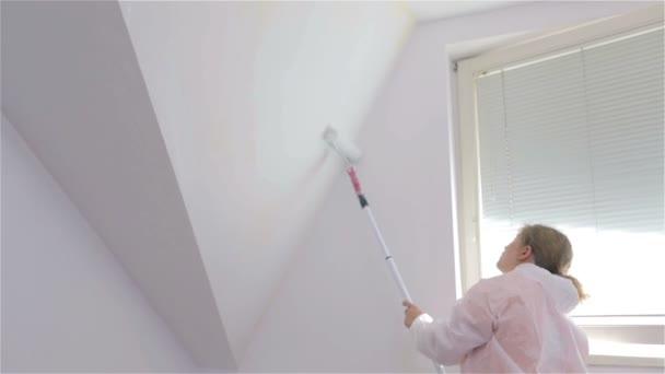 Mur Incliné De Femme Peinture Vidéo Bafan4u 64602207