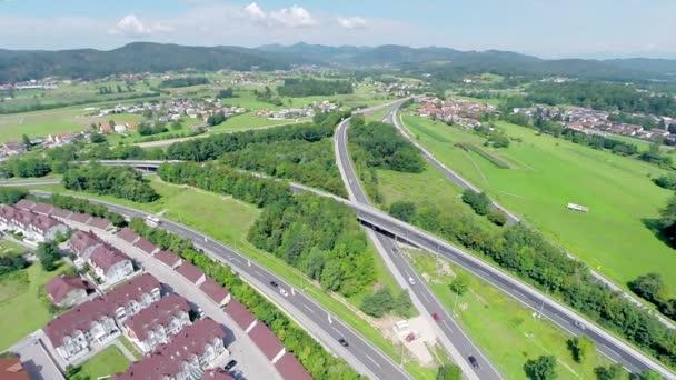 Dálniční křižovatka kolem Lublaň