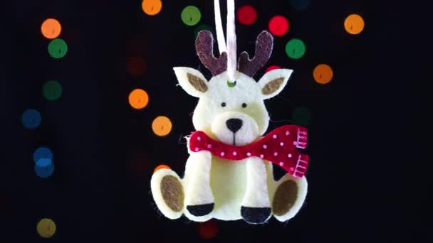 Karácsonyi rénszarvas swing villogó fények mögött