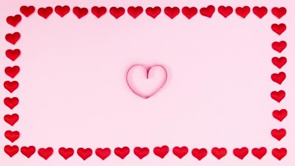 Bití srdce uvnitř slávy na Valentýna. Zastavit pohyb