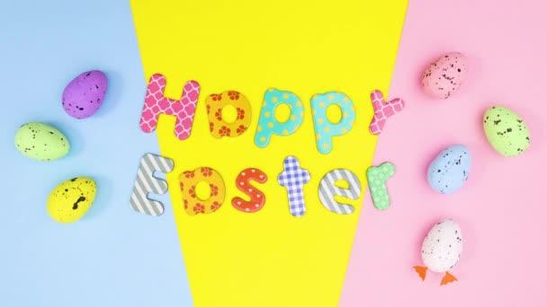 Veselé Velikonoce stop motion s pohyblivým textem a vejci