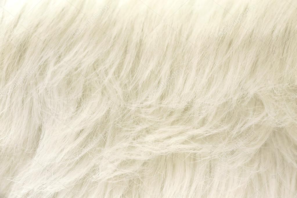 vit fuskpäls tyg