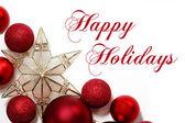 Decorazioni di Natale del bordo con testo Happy Holidays