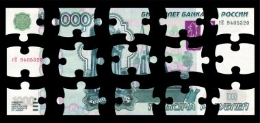 Banknote 1000 rubles puzzle