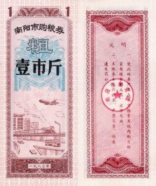 Banknote of China food coupon 1 1983
