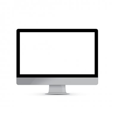 Vector illustration computer transparent screen. Pure PC screen