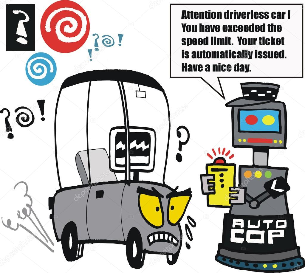Dessin anim voiture et robot de police image vectorielle click60 106469950 - Voiture police dessin anime ...