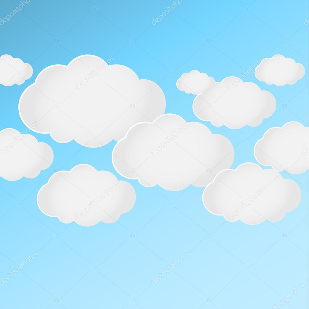 Vector of clouds Illustration eps10 for social