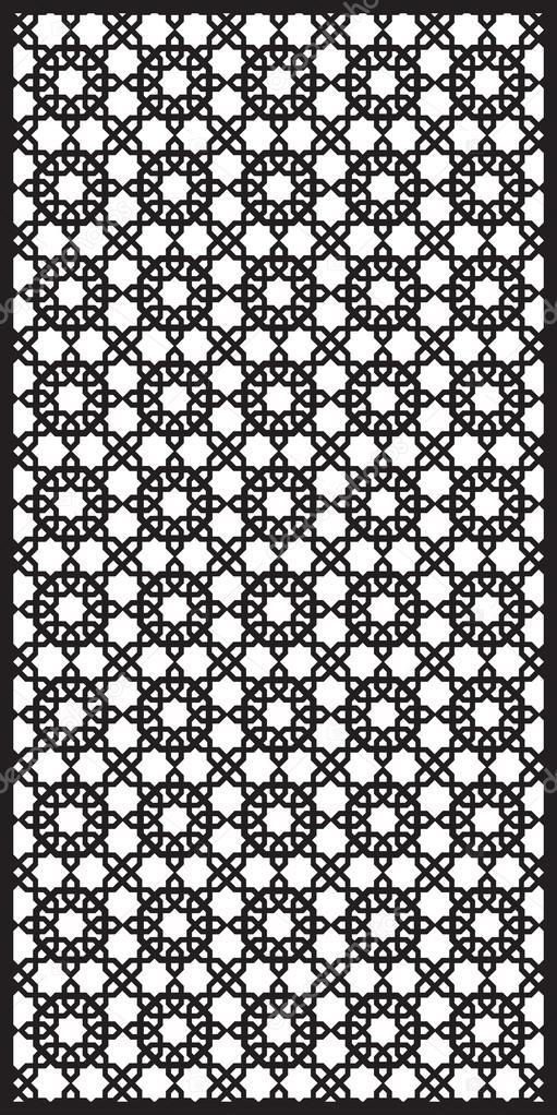 Rectangular lattice pattern background  in arabic style. Arabesque.