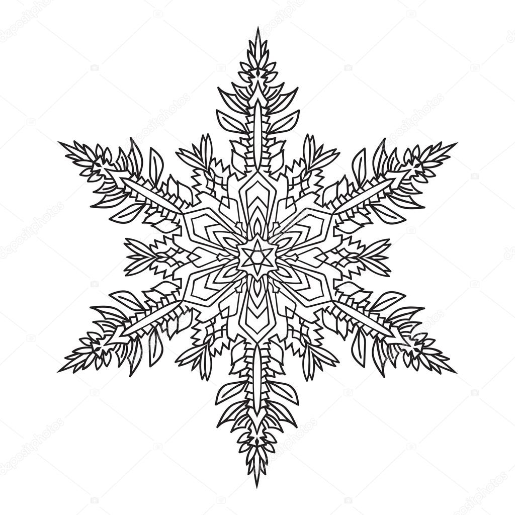 Stock Illustration Hand Drawn Doodles Natural Snowflake on Snow 1 3 Inches