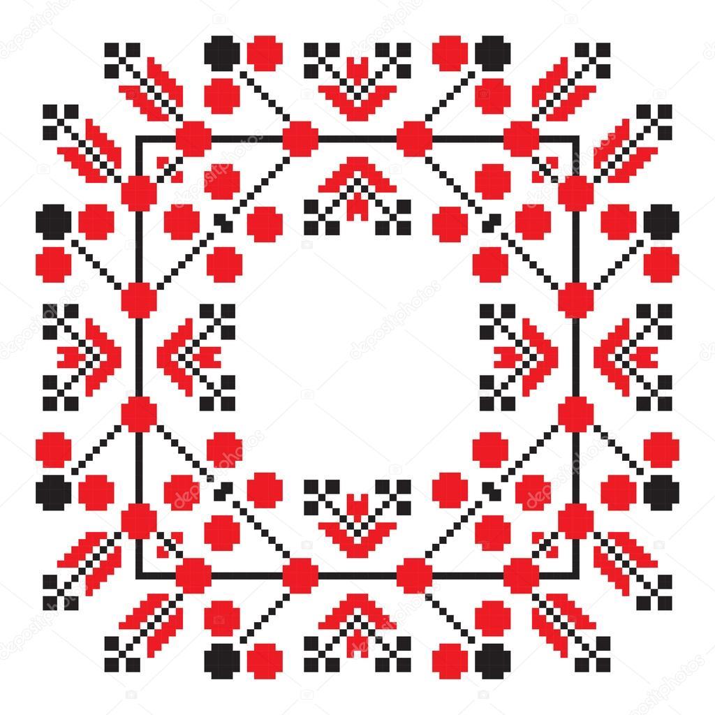 Patrones geométricos del mandala adorno étnicos en color rojo ...