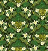 Photo Deco seamless pattern with frangipani