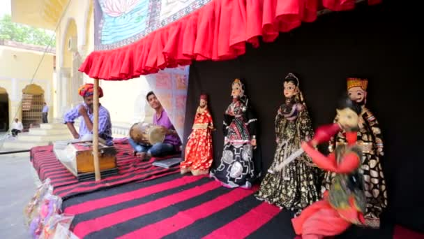 Traditional Indian puppets show.