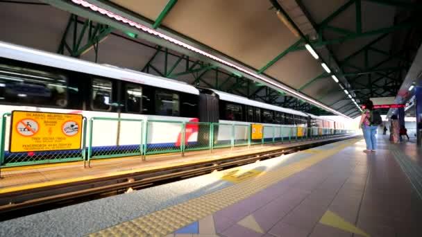 Moving LRT train