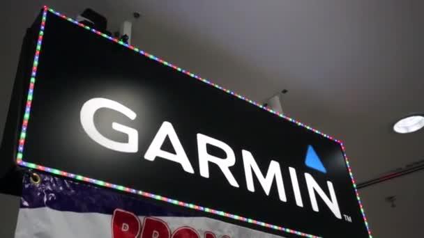 Garmin logo v nákupní centrum