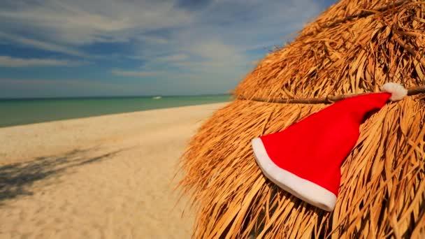 Klobouk Santa na slaměné deštník
