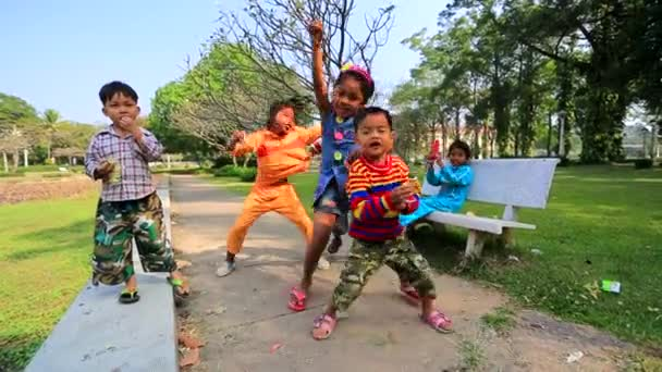 Cambodian children playing