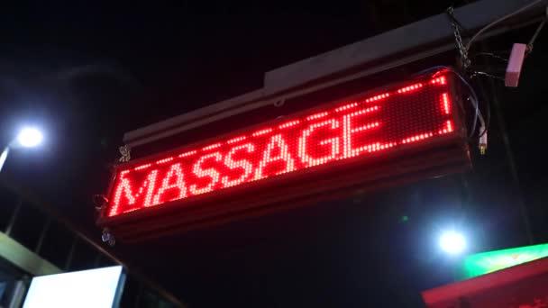 Nožní masáž neonový nápis