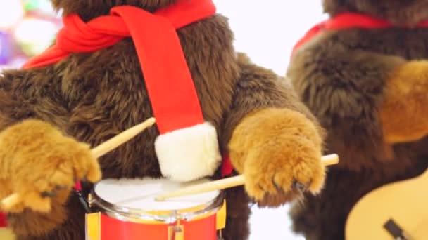 Medve játék dob és gitár