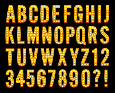 Broadway light alphabet marquee bulb sign