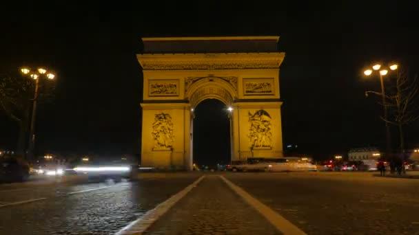 Arc de Triomphe in Paris-Time Lapse