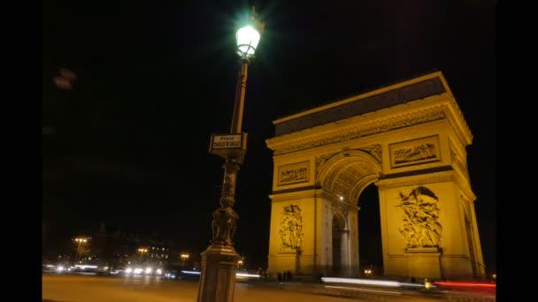 Arc de Triomphe in Paris-Zeitraffer