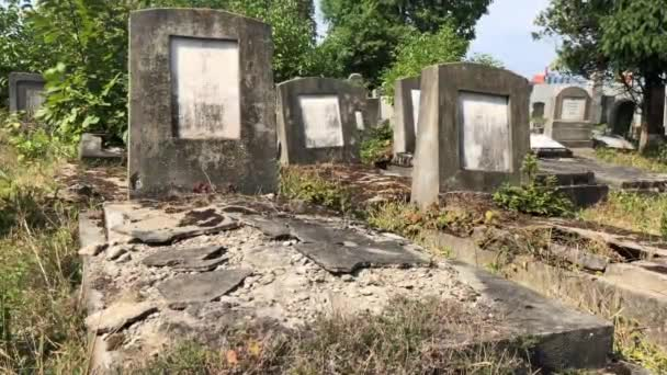 Neglected Broken Jewish grave in Romaniaunidentified shot from Cluj napoca Romania, 2020