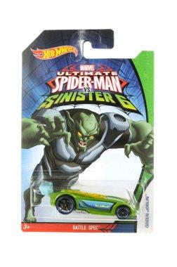 Ultimate Spiderman Green Goblin Hot Wheels Diecast Toy Car