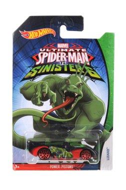 Ultimate Spiderman Lizard Hot Wheels Diecast Toy Car