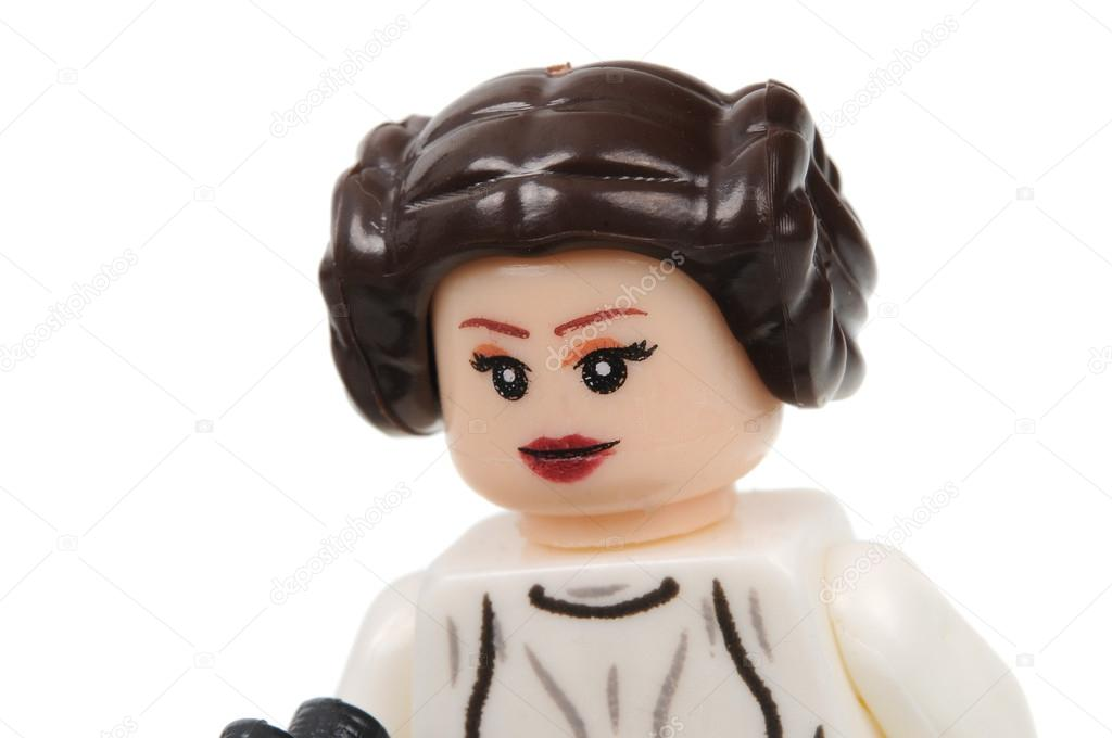 star wars princess leia lego minifigure ストック編集用写真
