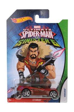 Ultimate Spiderman Kraven Hot Wheels Diecast Toy Car