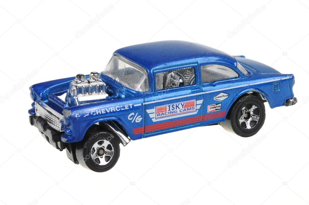 1955 Chevy Bel Air Gasser Hot Wheels Diecast Toy Car Stock