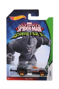Ultimate Spiderman Rhino Hot Wheels Diecast Toy Car