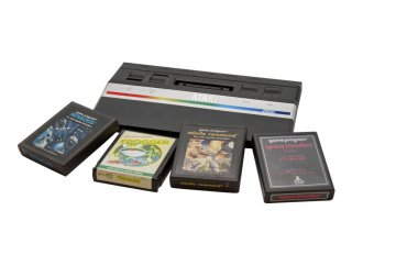 Atari 2600 Console and Cartridges