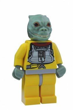 ADELAIDE, AUSTRALIA - January 09 2015:A studio shot of a Bossk Lego minifigure from the Star Wars Movie Series. Lego is extremely popular worldwide with children and collectors. stock vector