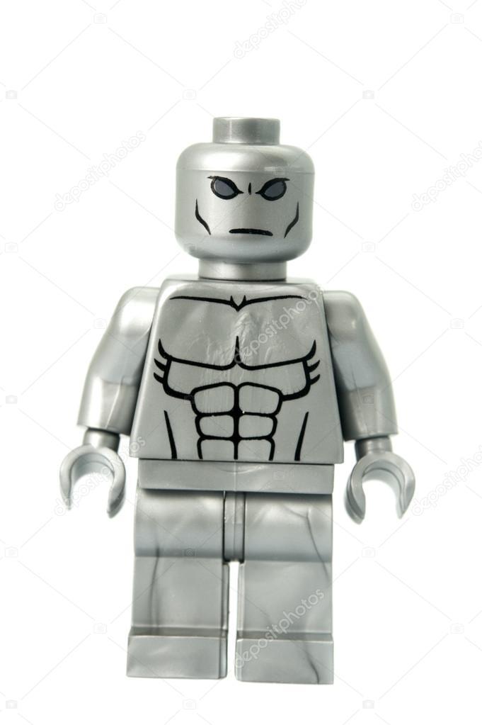 Silver Surfer Custom Lego Minifigure – Stock Editorial Photo ...