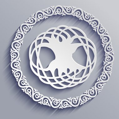 Abstract 3d Celtic tree of life