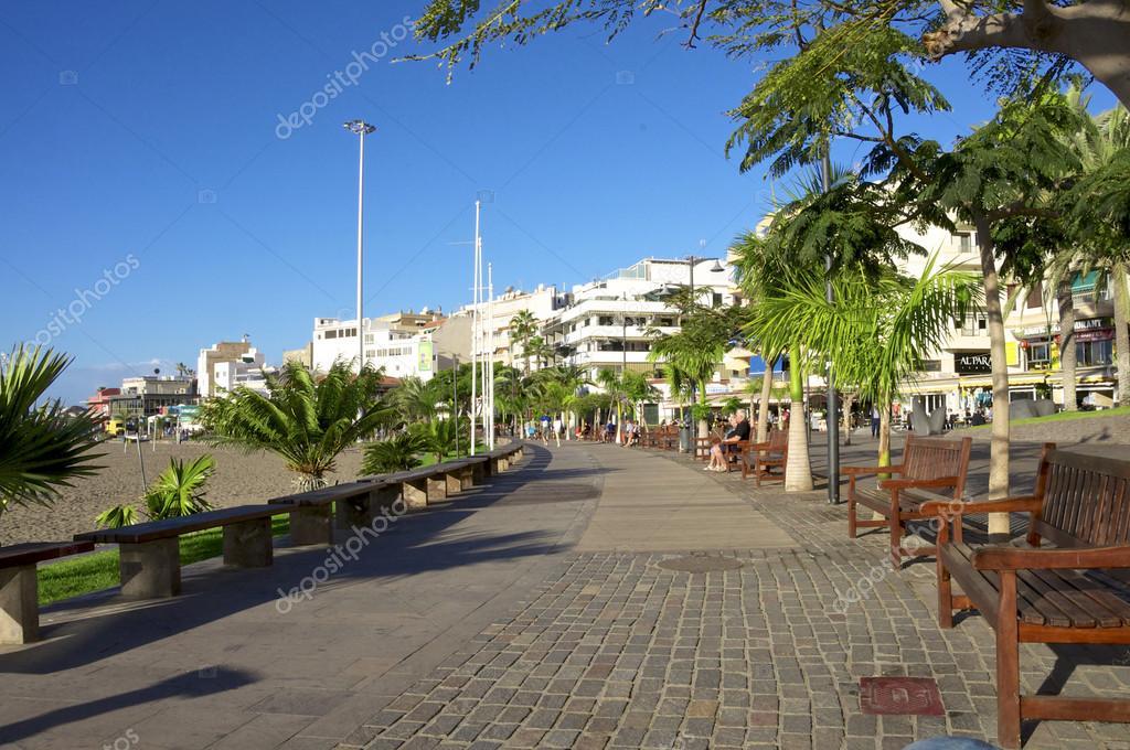 Los Cristianos, Tenerife, Spain - January 17. 2014. The ...