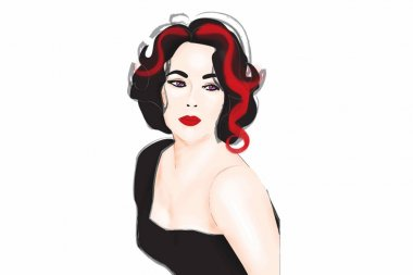 Elizabeth Taylor illustration