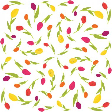 Seamless tulips pattern