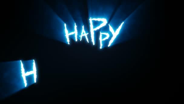 Körmös vágás Happy Halloween kék