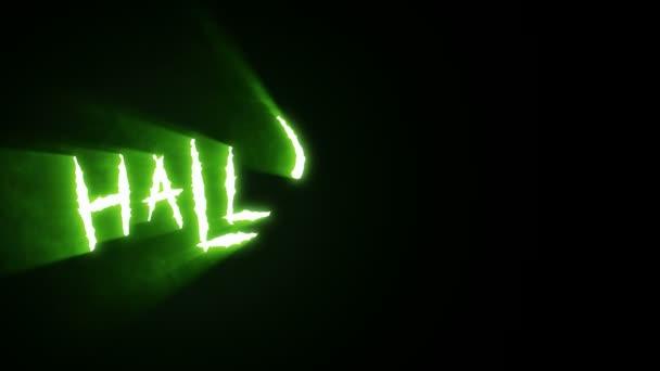 Körmös vágás Halloween zöld
