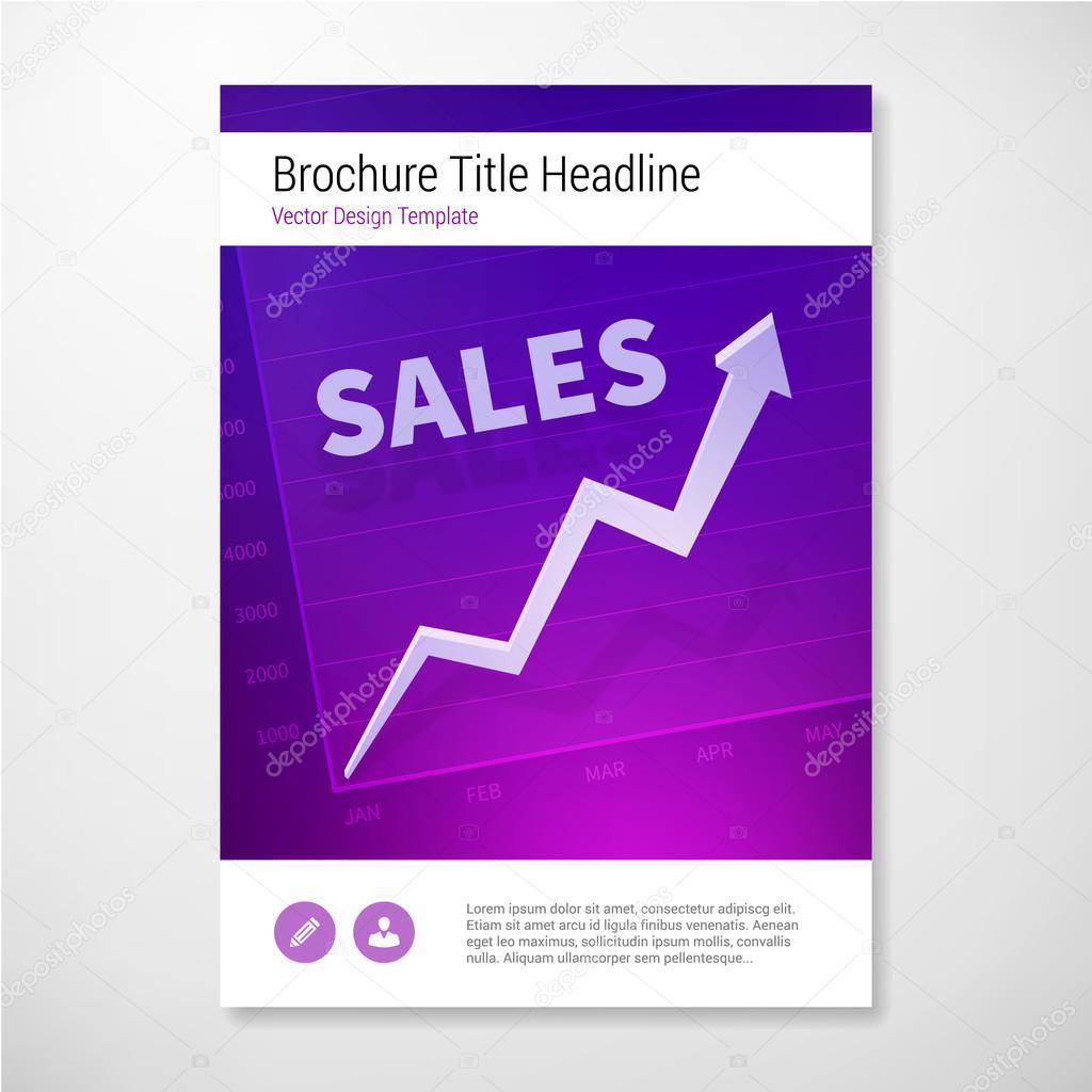 Plantilla de diseño de informe positivo de ventas folleto libro ...