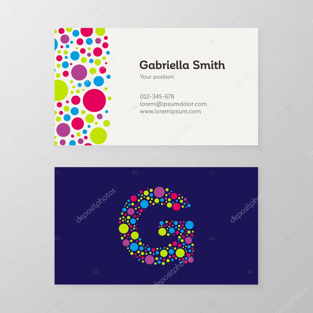 Modern letter g circle business card template stock vector modern letter g circle business card template stock vector colourmoves